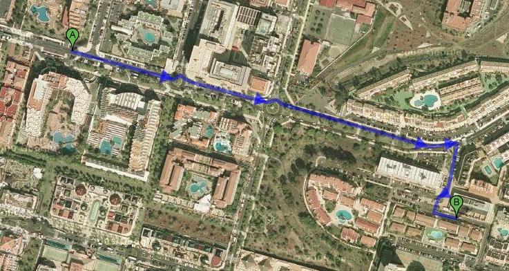 Ближайший магазин Mercado. 750 метров пешком. 9 минут