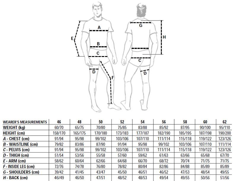Одежды и таблица размеров обуви сша